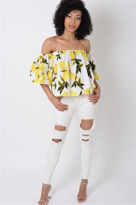 Shoulder Floral Top stylish white floral the shoulder top stylish tops