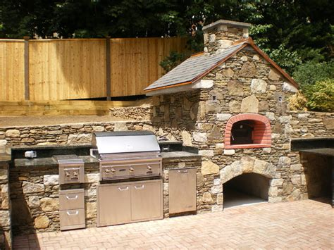 Outdoor Kitchen Pizza Oven Design by Brookline Outdoor Kitchen Wood Burning Pizza Oven