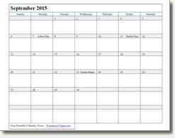 printable calendar 2015 waterproof september 2015 printable calendars