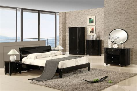 aztec high gloss white or black bedroom furniture