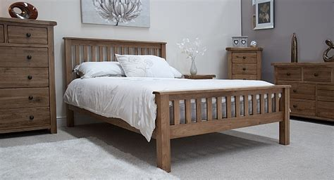 tilson solid rustic oak bedroom furniture 4 6 double bed