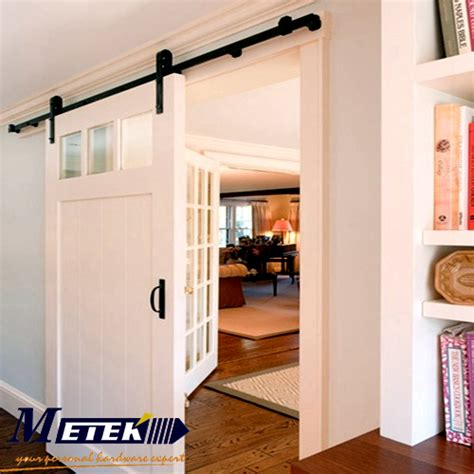 Interior Barn Door Track System by 4 9ft 6ft 6 6ft Carbon Steel Interior Barn Wood Door
