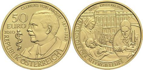 bw bank gold 50 2010 214 sterreich ii republik clemens pirquet