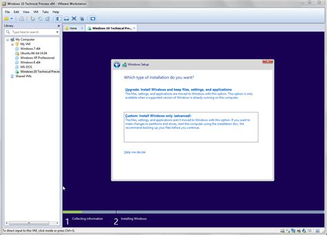 installing xp windows 10 try windows 10 tech preview with vmware workstation and