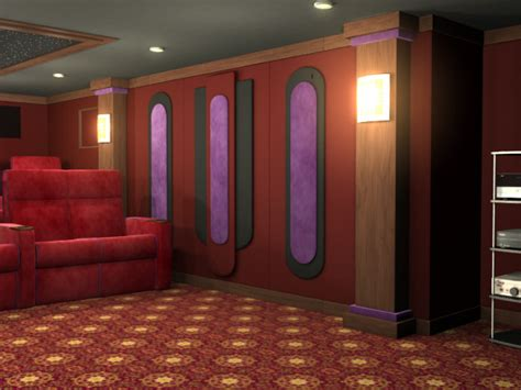 cascade home theater wall accent