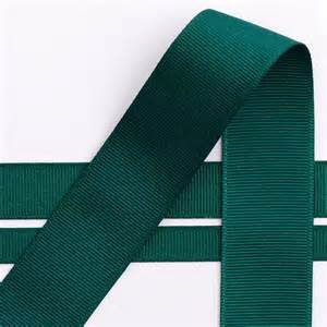 Winter Wedding Reception Decorations - dark green grosgrain ribbon 10mm 16mm amp 25mm at favour this