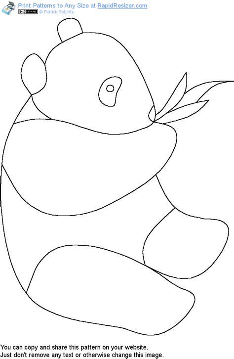 panda template free panda pattern