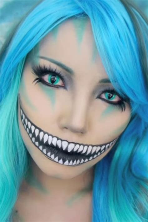 Cheshire Cat Blue cheshire cat makeup tutorial mugeek vidalondon
