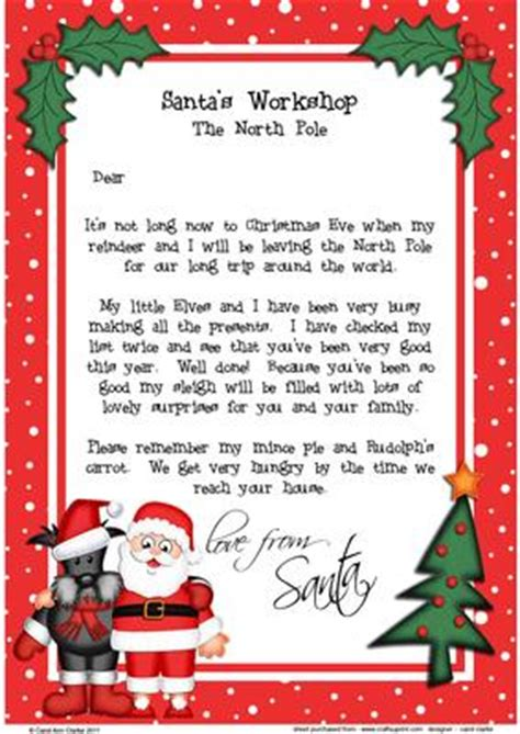 free printable letter from santa australia christmas santa scottie dog a4 child s letter from santa