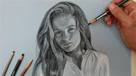 desenho femininos desenho realista l 225 pis carv 227 o rosto feminino