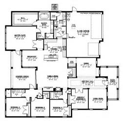 Large Kitchen Floor Plans by Inspiring Large Kitchen House Plans 9 Large House Floor