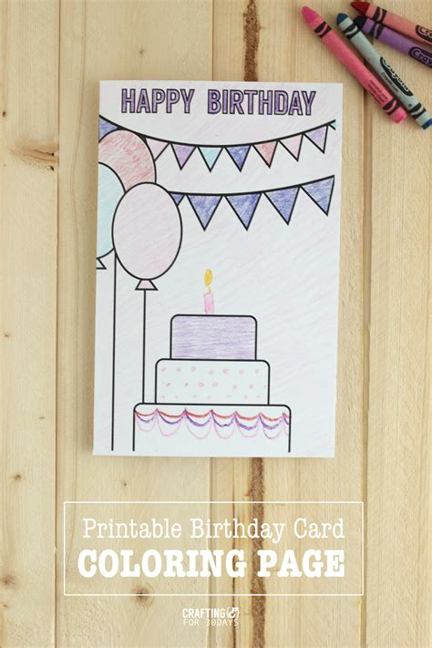 printable birthday card decorations birthday coloring pages