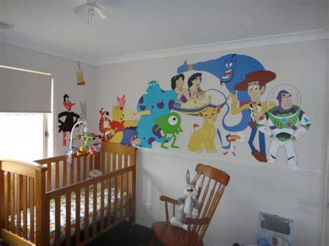 Mickey Mouse Wall Murals hand painted disney nursery inspiration for kids bedroom