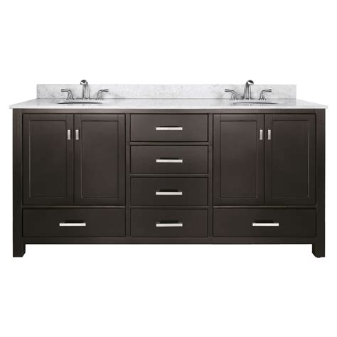 double bathroom vanities lowes shop avanity modero espresso undermount double sink