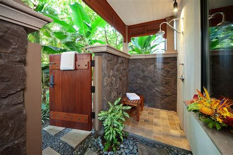 outdoor bathroom rental private outdoor shower grotto off master bedroom d101