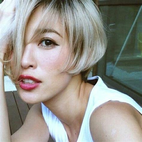 haircut and bleach in china bleach blonde bob beauty trends pinterest bleach