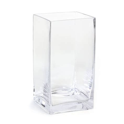 large square glass vase