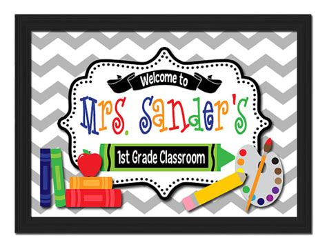 classroom door signs templates unavailable listing on etsy