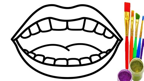 coloring pages of colored lips learn colors with drawing mouth coloring pages for baby