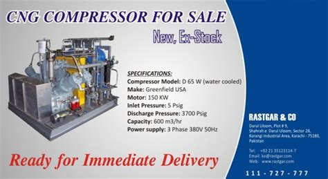 ready stock  greenfiled high pressure cng compressor