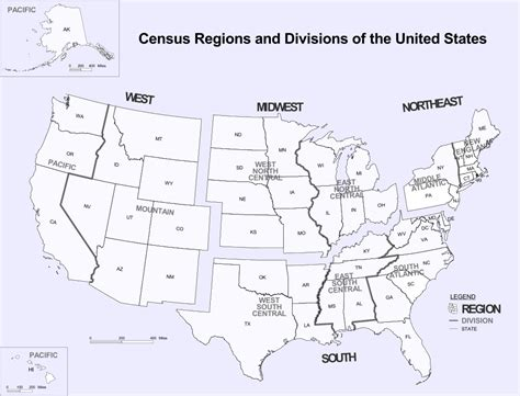 demographic map of the united states file census regions and division of the united states svg