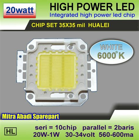 Hpl 10w High Power Led 10 Watt Sorot 3 3 Warm White Epistar 35 35 mitra abadi led january 2017