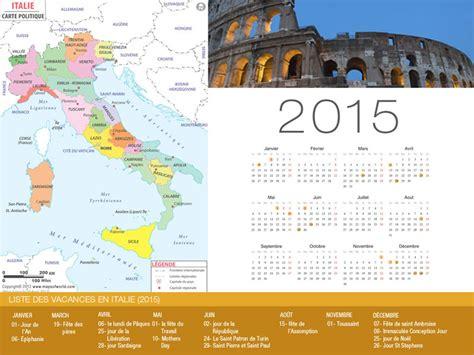 Calendrier Italie Calendrier De Vacances Italie 2015
