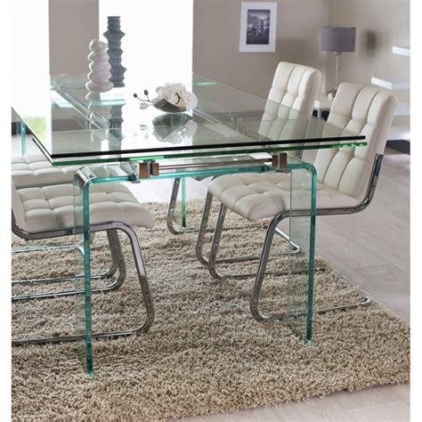 table de salle a manger quartz verre 160 224 260 cm