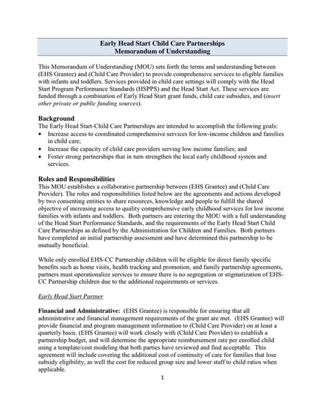 Memo Understanding Template Sle Memorandum Of Understanding Template In Word And Pdf Formats