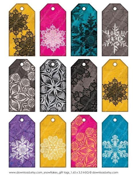 printable snowflake tags snowflakes printable gift tags pinparty snowflakes