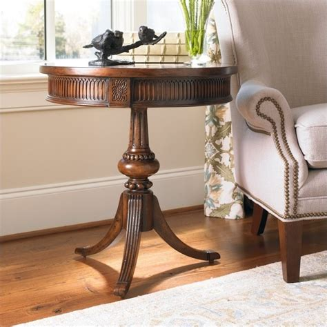 hooker accent tables hooker furniture seven seas round pedestal accent table