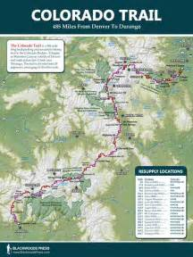map of the colorado trail colorado trail map blackwoods press