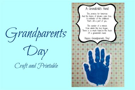 grandparents day crafts for easy grandparents day crafts for handprint craft