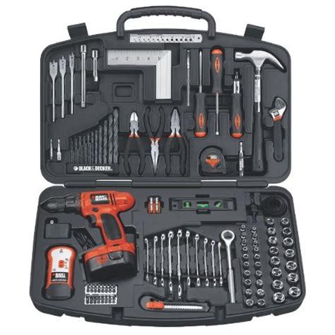 black decker tool kit black decker 14 4v 126 pc home project kit 885911017763