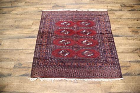 4x4 rug geometric square 4x4 turkoman area rug wool carpet ebay