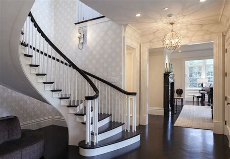 Staircase Foyer Spiral Staircase Contemporary Entrance Foyer Markay