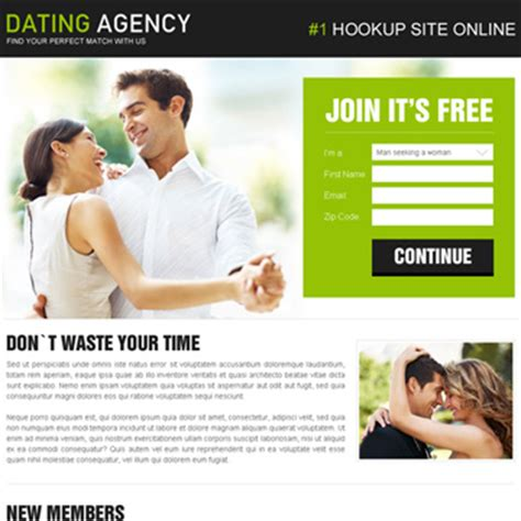 free dating templates dating landing page design templates exle for inspiration
