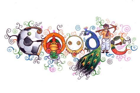 today s doodle india doodle 4 winner on india home page