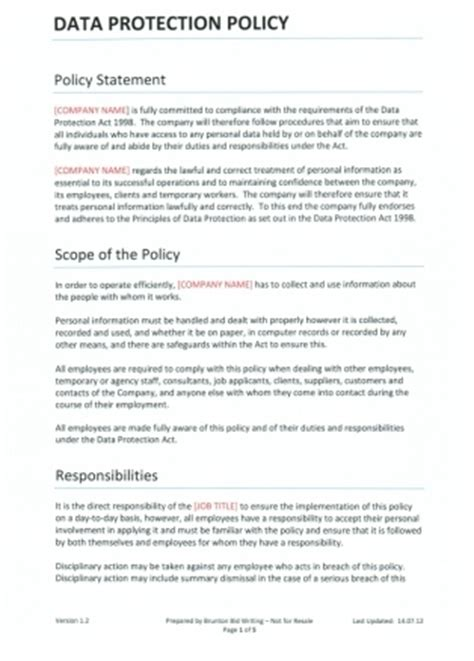 data privacy policy template data protection policy template for recruitment agencies