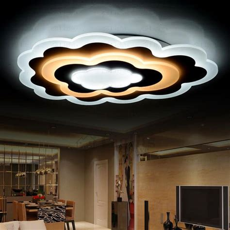 Different Ceiling Lights Unique Cloud Shaped Led Flush Mount Ceiling Light