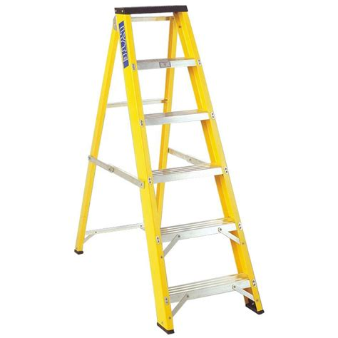 lyte trade fibreglass swingback step ladders ladders4sale