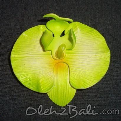 Bunga Anggrek Bulan Kuning bunga anggrek bulan hijau 7cm
