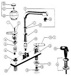 Parts Of A Kitchen Faucet Diagram Two Handle Washerless High Spout Kitchen Faucets Diagram Parts List For Model 3674 Peerless
