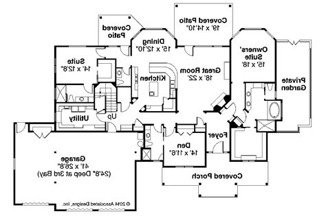 craftsman home floor plans craftsman house plans cedar creek 30 916 associated designs