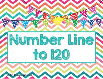 printable number line for classroom wall number line to 120 by fabulously first by deb thomas tpt