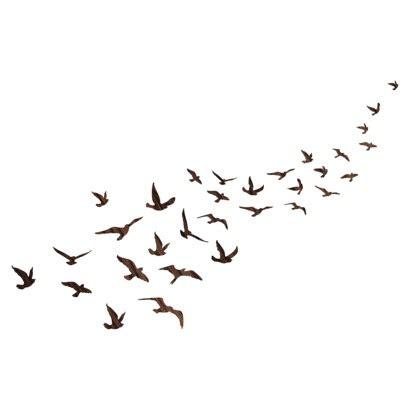 flock of birds tattoo wall decal flock of birds organizedotcom dreamdorm