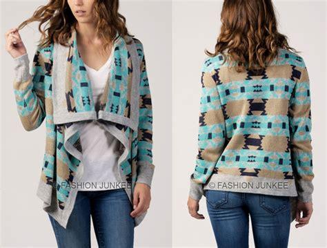 New Tribal White Sweater Rajut black white 91 tribal cardigan aztec print sweater jacket southwestern new s m l