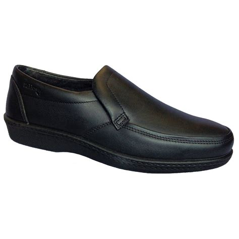 padders mens digger black slip on shoe marshall shoes