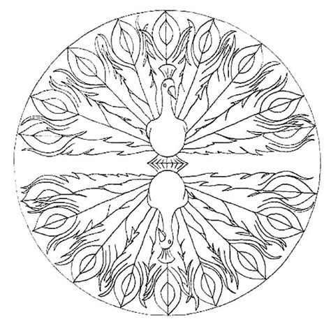Awesome Peacock Mandala Coloring Pages With Coloring Page The Awesome Mandala Coloring Pages