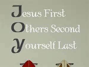 Bathroom Wall Letters Jesus First Others Second Yourself Last Wall Decals